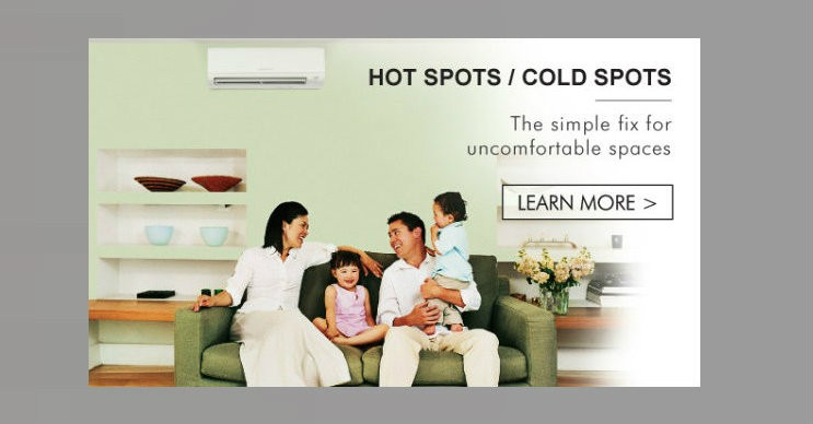 Mitsubishi Ductless Product Information Page
