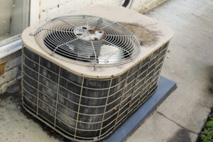 old-dirty-outside-air-conditioning-unit